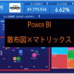 Power BIのバブルチャート(散布図)を使ってマトリックス分析をする方法