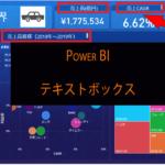 Power BI テキストボックスの使い方 レポート内にタイトルを加える方法