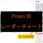 Power BIでレーダーチャートを表示させる方法