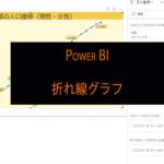 Power BIの折れ線グラフの使い方 東京都の人口推移を可視化